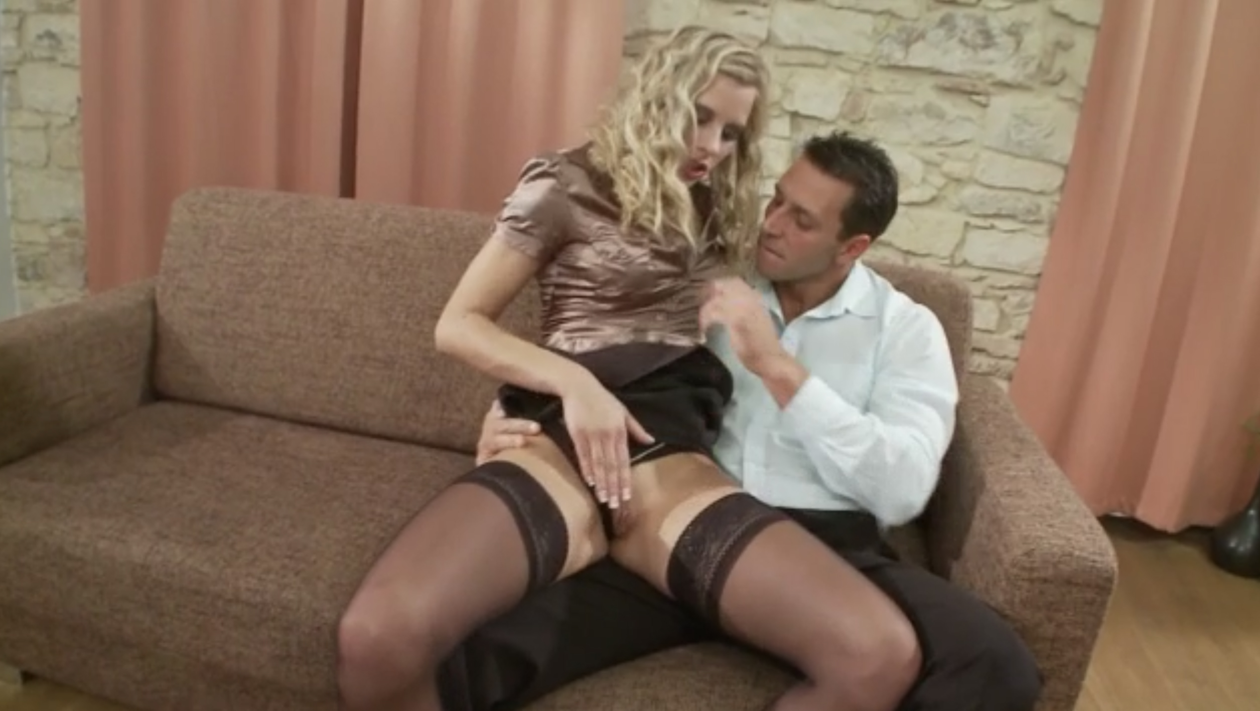 Hot curly chick destroyed by big cock