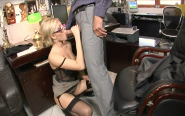 Blonde milf loves cum