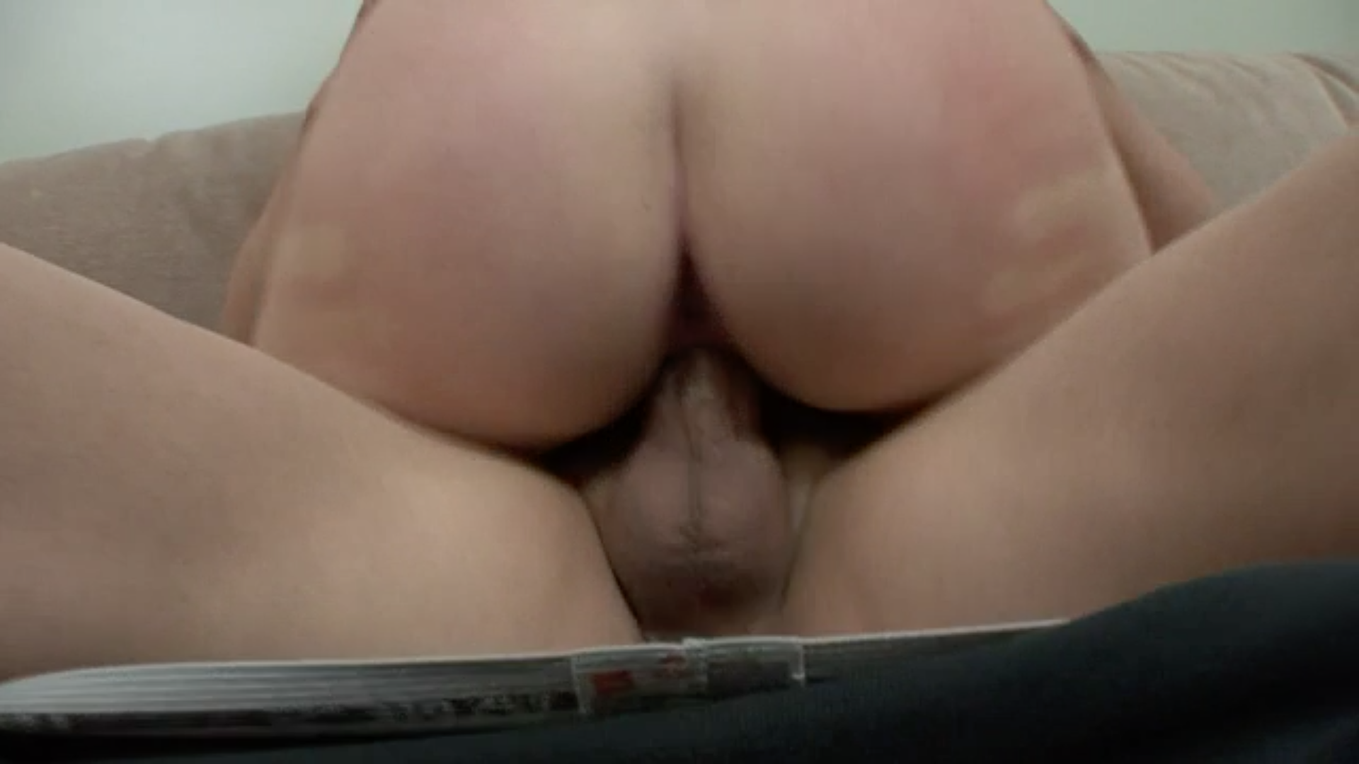 Cum dripping out my pussy into my ass