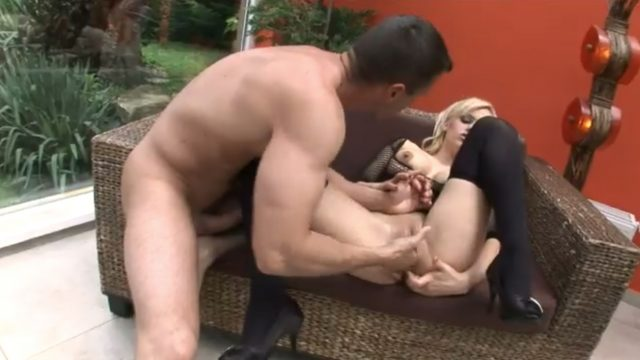 Hot blonde gets fisted