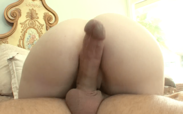 Big cock in between ass cheeks